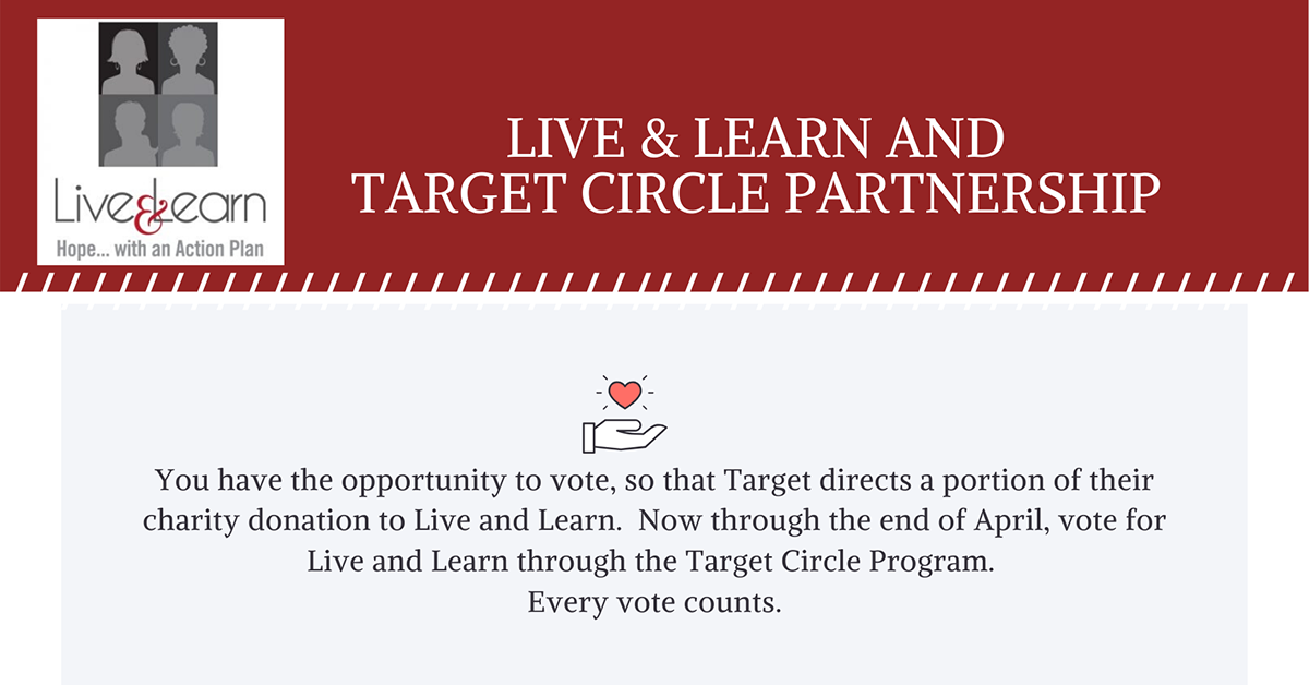 From now until the end of June, Live & Learn is a select charity of Target Circle