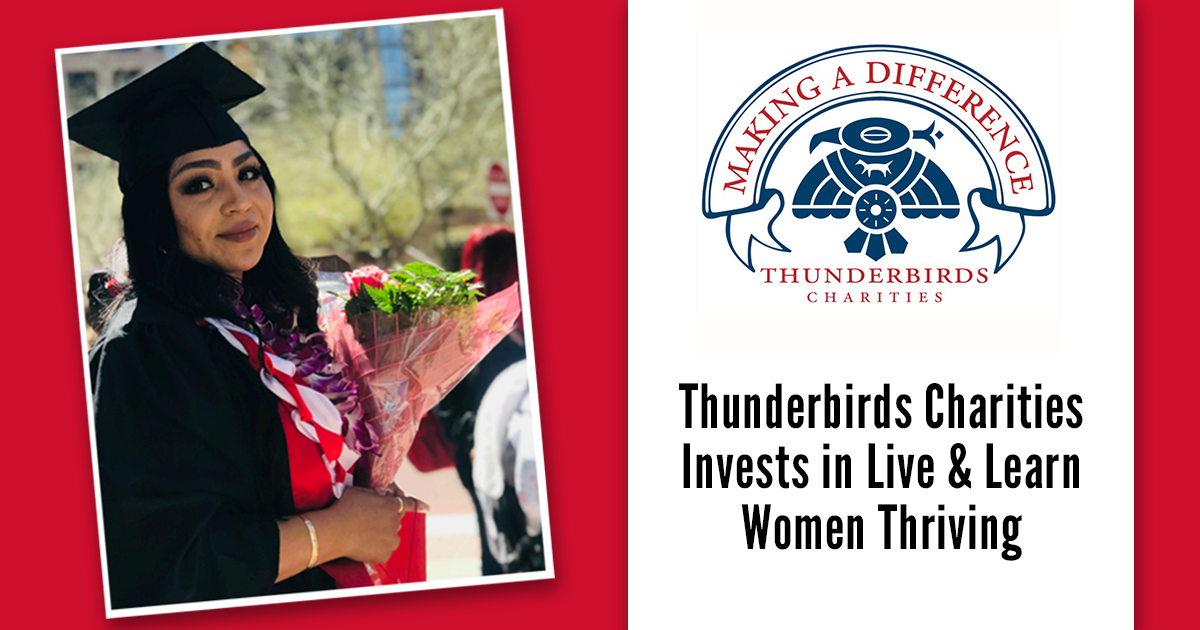 Thunderbirds Charities Invests in Live & Learn Women Thriving